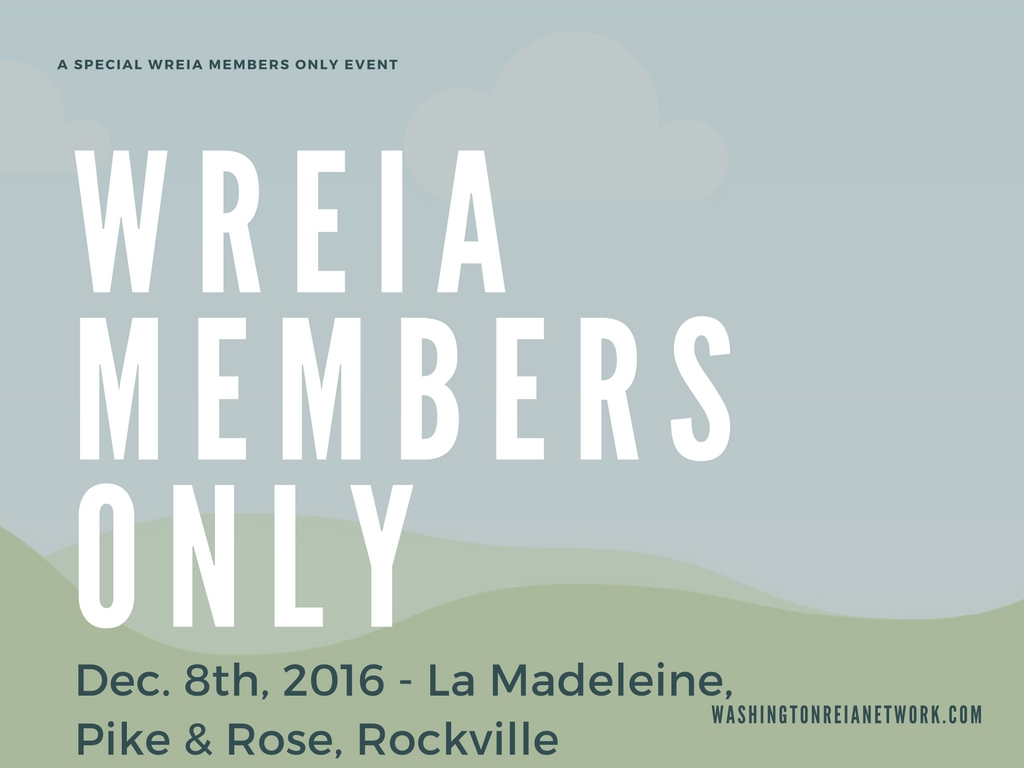 A Special WREIA Members Only Event